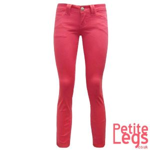 Mia Skinny Jeans in Dark Coral | UK Size 10/12 | Petite Leg Inseam Select: 24 - 30 inches